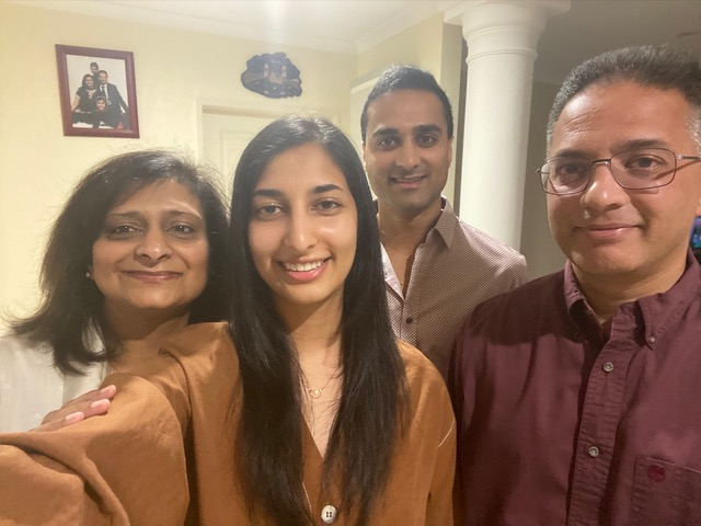 Anika and her family